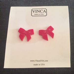 "Vinca ""Little Bow Chic"" acrylic Earrings"